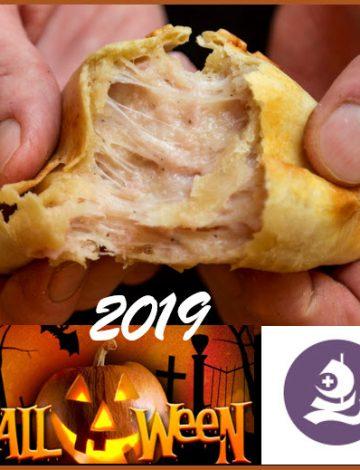 Ham & cheese empanada – Halloween 2019 at Rygaards