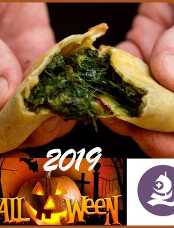 Spinach empanada – Halloween 2019 at Rygaards
